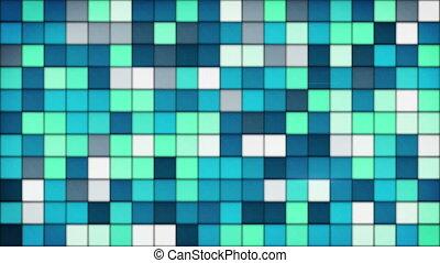 bleu, tuiles, seamless, verre, mosaïque, fond, boucle
