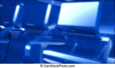 bleu, tuiles