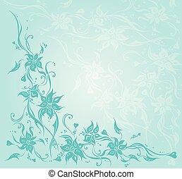 bleu, turquoise, arrière-plan vert