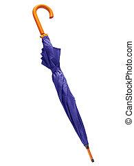 bleu, umbrella., plié