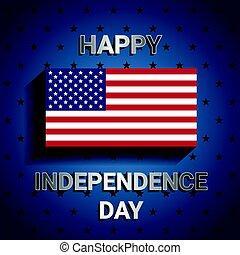 bleu, usa, drapeau américain, fond, jour, indépendance