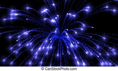 bleu, vacances, cercle, feux artifice