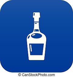 bleu, vecteur, alcool, icône