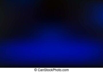 bleu, vecteur, fond, brouillé