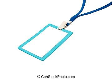 bleu, vecteur, illustration, neckband., vide, écusson