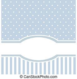 bleu, vecteur, ou, carte, invitation