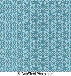 bleu, vecteur, pattern., seamless