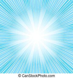 bleu, (vector), résumé, fond, sunburst, noël