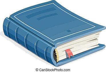 Bleu Signet Livre Bleu Signet Vecteur Livre Illustration