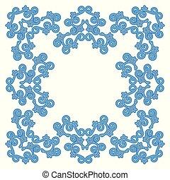 bleu, vendange, vecteur, concevoir élément