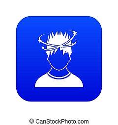 bleu, vertige, homme, icône, numérique