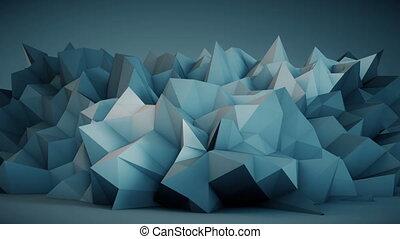 bleu, vibrer, surface, rendre, seamles, boucle, 3d