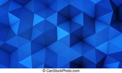 bleu, vibrer, surface, seamless, polygonal, géométrique, boucle