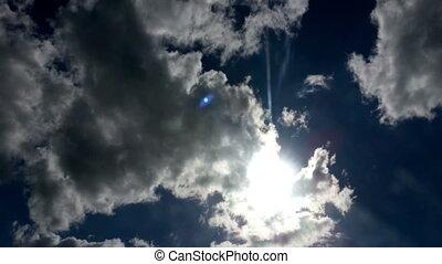 bleu, vidéo, ciel, hd, clouds.