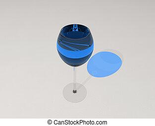 bleu, vin