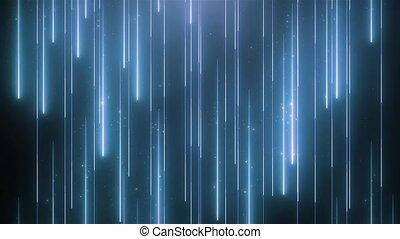bleu, vj, néon, particules, arrière-plan animation, brillant