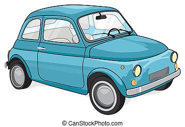 bleu, voiture d'époque
