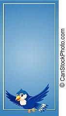 bleu, voler, frontière