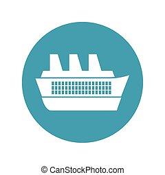 bleu, voyage, maritime, croisière, cercle, bateau