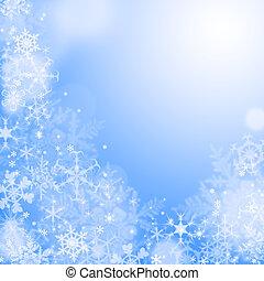 bleu, wallaper, hiver