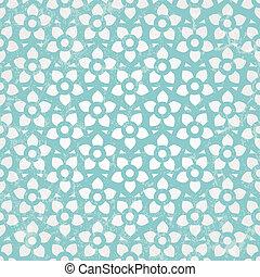 bleu, wallpaper., seamless, arrière-plan., vecteur, floral