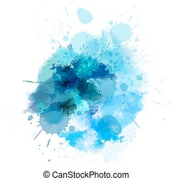 bleu, watercolored, tache