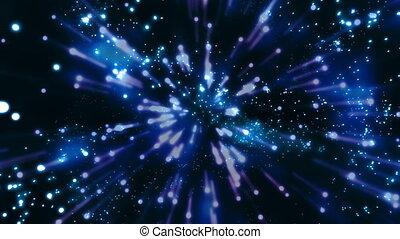 bleu, x32, chaos, particule, boucle