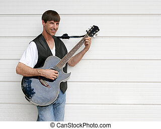 bleus, guitariste, 2