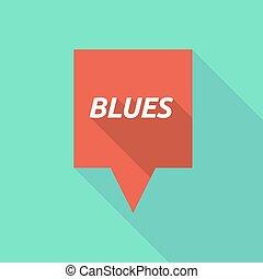 bleus, tooltip, ombre, long, texte