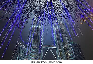 bliżnie wieże, na, kuala lumpur, (malaysia)