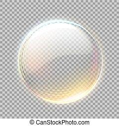 blick, 球, ベクトル, 金, 透明, 3d