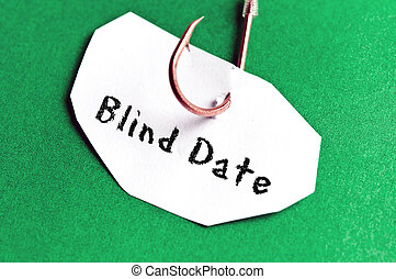Blind Date message on paper