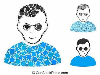 Blind man Mosaic Icon of Tremulant Elements - Blind man ...