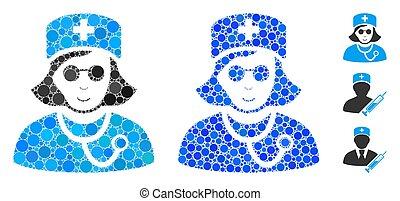 Blind Nurse Composition Icon of Circles - Blind nurse ...