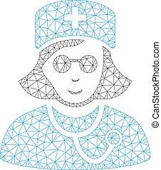 Blind Nurse Vector Mesh Network Model - Mesh blind nurse ...
