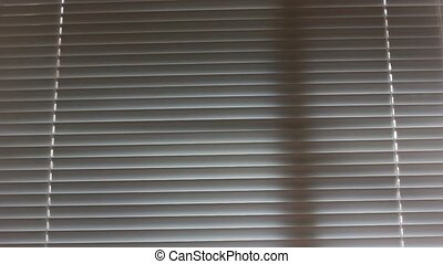 blind or louvers with wind