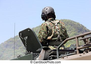 blindado, japoneses, veículo