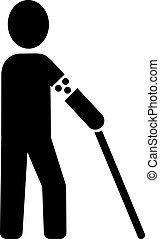 blinde man, pictogram