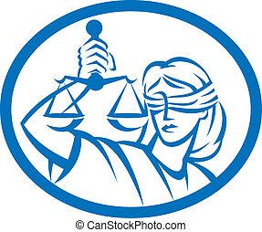 blindfolded, スケール, 正義, オバール, 把握, 女性