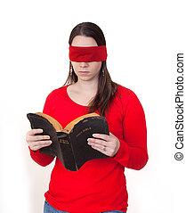 Blindfolded Bible reading