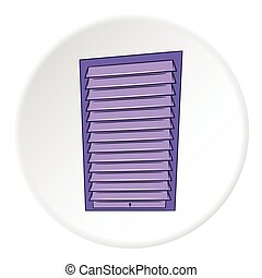 Blinds icon, cartoon style