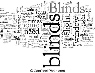 Blinds text background wordcloud concept