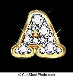 bling, ダイヤモンド, 金