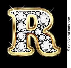 bling, 金, ダイヤモンド, r
