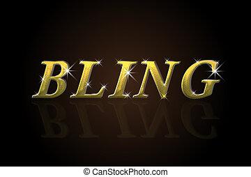 Bling bling word design