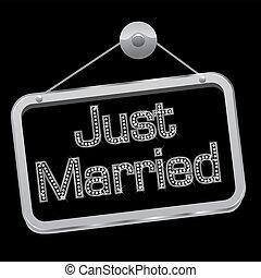 bling, casado, señal, sólo