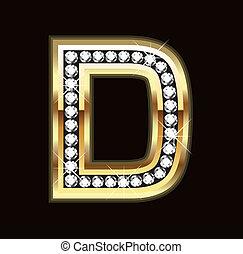 bling, d, lettera