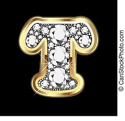 bling, diamant, t, or