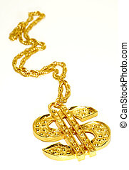 Gold Dollar Sign Necklace