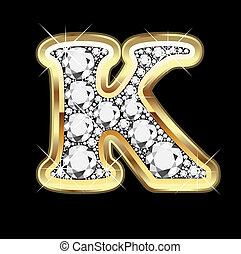 bling, k, ダイヤモンド, 金